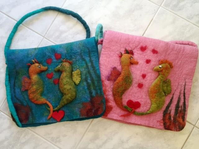 EPUS - das Seepferdchen - Filztaschen