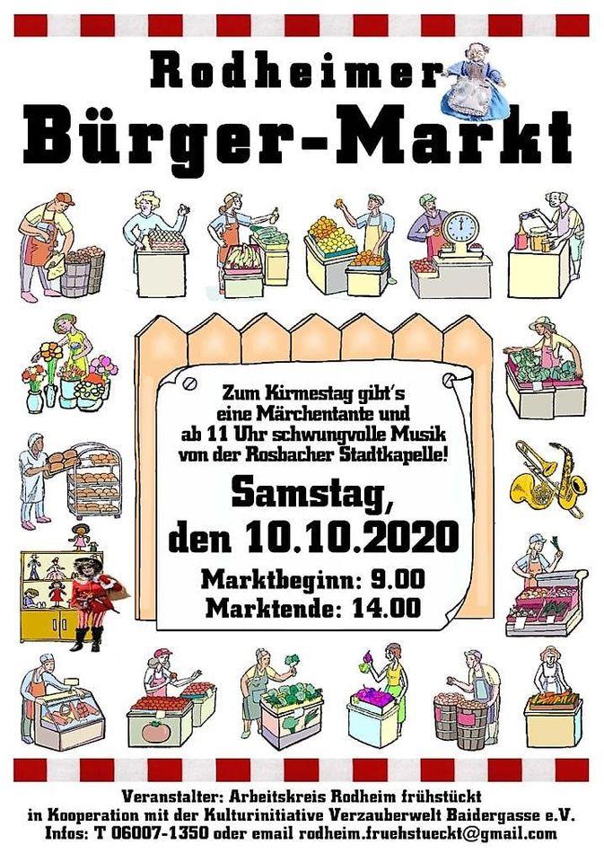Rodheimer Bürger-Markt am 10. Oktober 2020