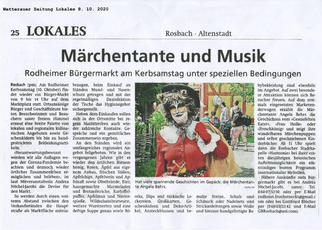 Wetterauer Zeitung - 8. Oktober 2020