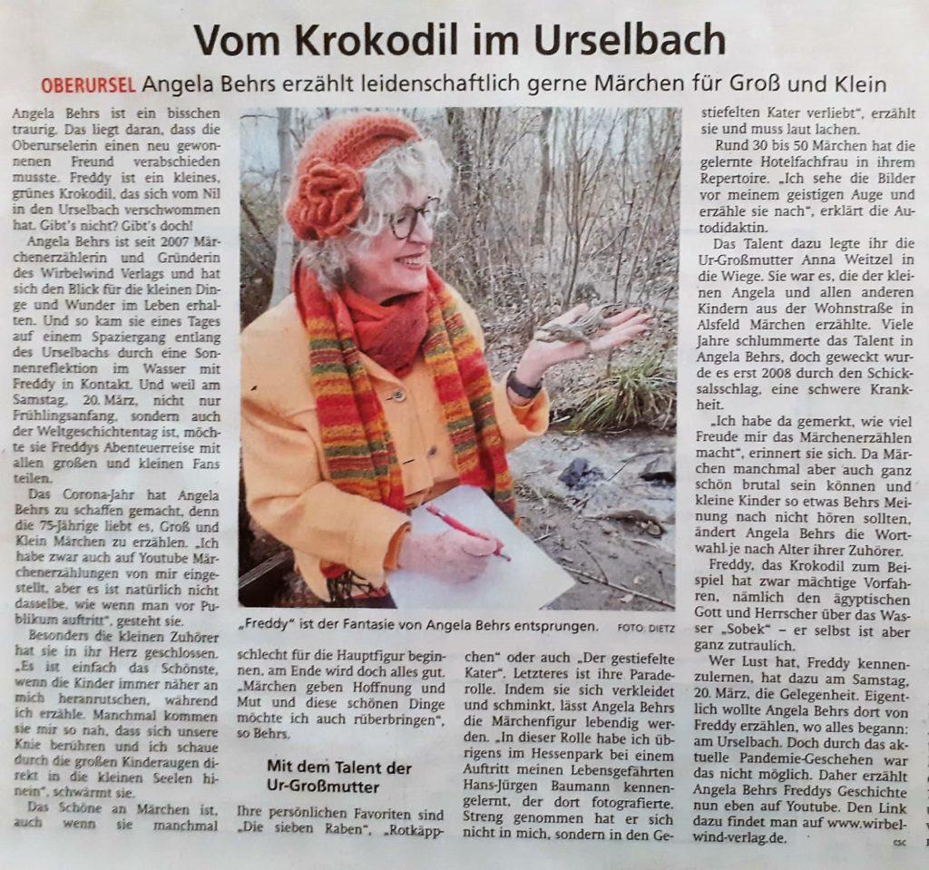 Vom Krokodil im Urselbach - Taunus Zeitung vom 19. März 2021
